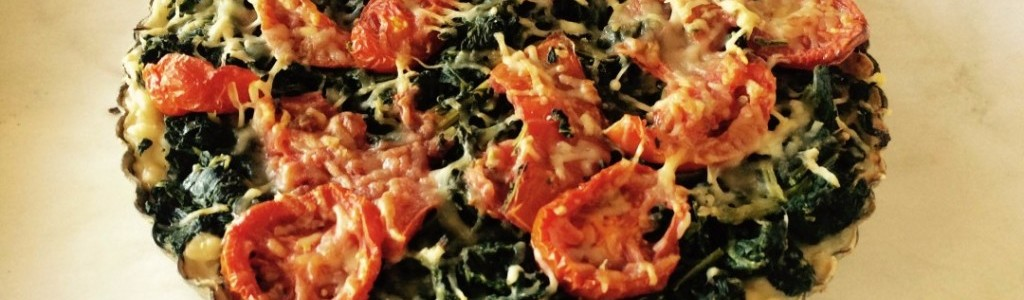 Tomato Spinach Parmesan Tart
